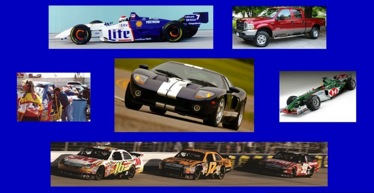 Ford GT, CART ChampCar Team Rahal, NASCAR Sprint Cup Roush Fenway Racing - Scott Ahlman's major projects UW Madison FSAE